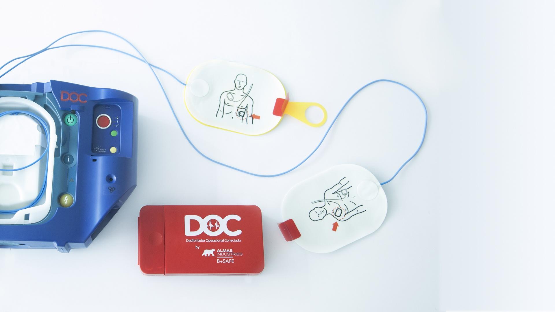 desfibrilador DOC kit parches
